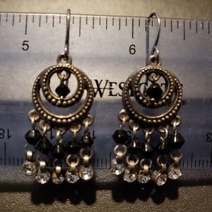 Silpada sterling silver with black and clear beads